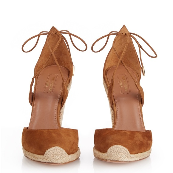 490876d66fb Aquazzura Shoes - Aquazzura Karlie wedge espadrille 37.5   7.5